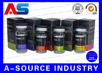 Pharmaceutical Hologram Small Shipping 10ml Vial Boxes Testosterone Cypionate with CMYK colors